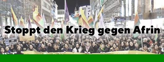 Afrin-Plattform Hannover: Stoppt den Krieg gegen Afrin!